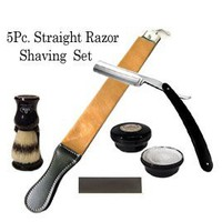 5 Pc Straight Razor Shaving Set / Kit