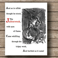Buy 1 Get 1 Lewis Carroll Through by JaneAndCompanyDesign