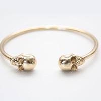 Gold Skull Cuff bangle Bracelet
