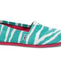 Turqouise Women&#x27;s Zebra | TOMS.com