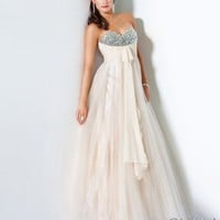 Jewel Embellished Ball Gown, Style B61681