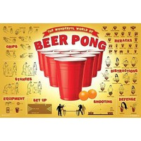 (24x36) The Wonderful World of Beer Pong College Poster