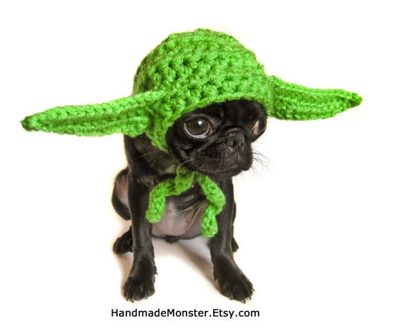 STAR WARS DOG hat costume yoda inspired pet by HandmadeMonster