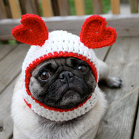 Dog Hat  Sweetheart Be Mine/ Made to Order by Sweethoots on Etsy