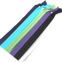 Women's Stretchy Headbands (5) - Elastic Ribbon Hair Tie Headbands - Emi Jay Like Fabric Hairbands - Winter Fashion Yoga Headbands