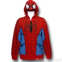 Spiderman Costume Hoodie w/Mask and Muscles