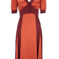 Retro To Go: Colourblock Fishtail Dress from Wallis