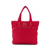 Quilted Tote Bag - Shoes & Bags