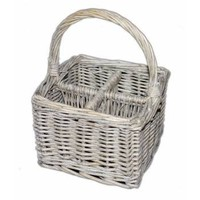 Wicker Cutlery Storage Basket - Cutlery & Kitchen Accessory from the gifted penguin UK