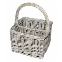 Wicker Cutlery Storage Basket - Cutlery &amp; Kitchen Accessory from the gifted penguin UK