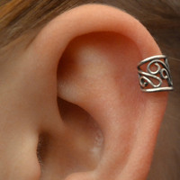 Ear Cuff  Filigree  Cartilage  Sterling Silver  by ChapmanJewelry