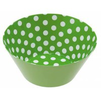 Large Bright Green Polka Dot Bowl - Tableware / Serveware from the gifted penguin UK