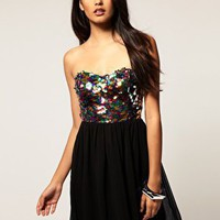 Rare | Rare Dress With Multi Sequin Bustier at ASOS