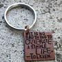 LOTR simple life 3/4 Square keychain hand by DesignByAnyOtherName