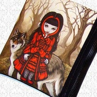 Red Riding Hood bag Jasmine Becket Griffith zippered by HautTotes