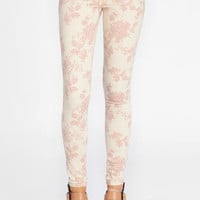 Hushed Floral Skinny Pants - $48.00 : ThreadSence, Women's Indie & Bohemian Clothing, Dresses, & Accessories