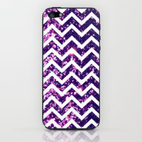 Purple Blur Sparkle Chevron iPhone & iPod Skin by Rex Lambo | Society6