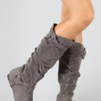 NO10 Knotted Slouchy Knee High Boot