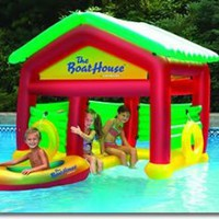 Amazon.com: Boathouse Floating Swimming Pool Habitat: Patio, Lawn & Garden