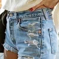 Custom- Made to Order- Distress Ripped High Waisted Shorts