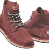 Burgundy Suede Women&#x27;s Tomboy Boot | TOMS.com