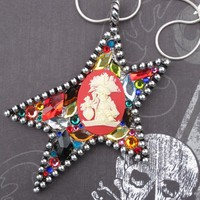 Trader Jack pirate necklace with Swarovski crystals