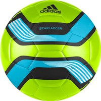 Adidas Starlancer III Soccer Ball (High Energy Orange, Black, Electricity Yellow/ White, Size 3)