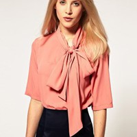 ASOS Blouse with Side Tie Pussybow