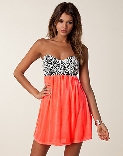 Aztec Bra Neon Dress, Reverse