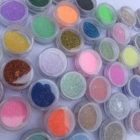 350buy 45 Color Glitter Sparkle Acrylic Powder Dust for Nail Art Tips Decoration Makeup