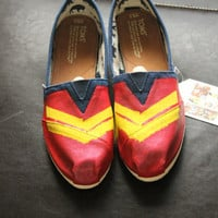 Wonder Woman Custom Shoes (Toms, Vans Keds, or knock offs)