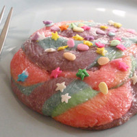 Easter Cookies - Unicorn Poop Cookies: Rainbow Sparkly Glitter Princess Easter Sugar Cookies - half dozen large cookies