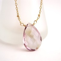 Ametrine solitaire necklace gold | Kahili Creations Handmade Jewelry from Hawaii