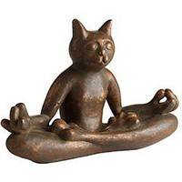 Product Details - Ceramic Copper Yoga Cat