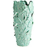 Product Details - Aqua Butterfly Relief Vase