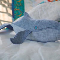 Humpback whale Baby handmade small plush whale by ashleymccally
