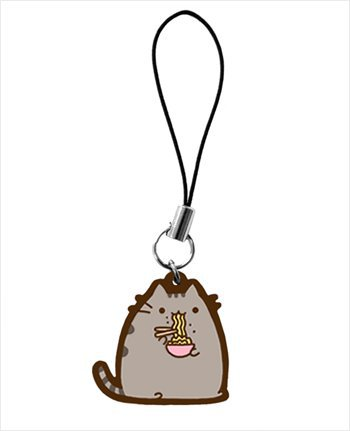 Hey Chickadee - Pusheen eating ramen phone charm