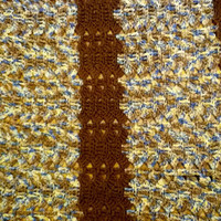 Lap or Chair Afghan in Mirage and Brown
