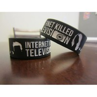DFTBA Records :: Internet Killed TV 1-inch Wristband