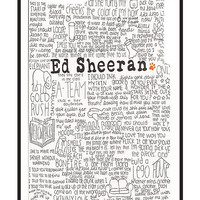 Ed Sheeran Lyrics - Iphone Case  by sullat04