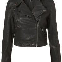 Petite PU Biker Jacket - Petite - Apparel - Topshop USA