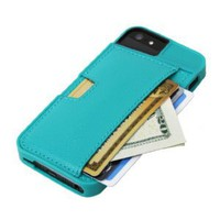 Amazon.com: CM4 iPhone Wallet Q Card Case for Apple iPhone 5 - Pacific Green - Q5-GREEN: Cell Phones &amp; Accessories