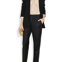 Gucci|Ruffled silk-georgette shirt|NET-A-PORTER.COM