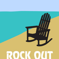 Beach art print Rock Out by Visuaria on Etsy