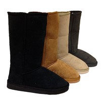 Faux Suede Lug Sole Boot