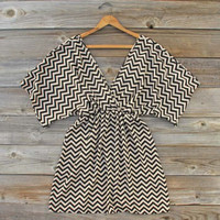 Footpath Chevron Dress, Sweet Women's Bohemian Clothing