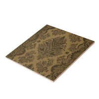 Antique Lace Brown Tiles from Zazzle.com