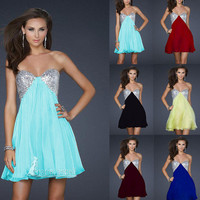 New Mini Short Prom party Dress Bridesmaid Homecoming School fashion Cocktail