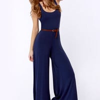 BB Dakota Lyric Navy Blue Jumpsuit