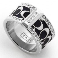 Coach :: Pave Signature Enamel Ring